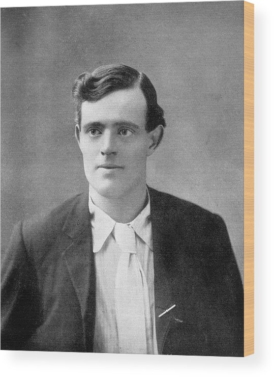 Jack Wood Print featuring the photograph Jack London American Writer, In 1906 by Mary Evans Picture Library