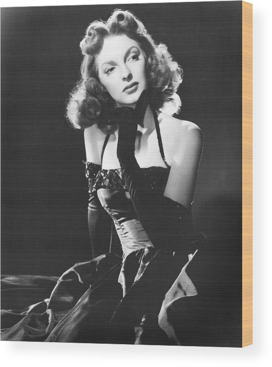 1950s Portraits Wood Print featuring the photograph Julie London, 1950 by Everett