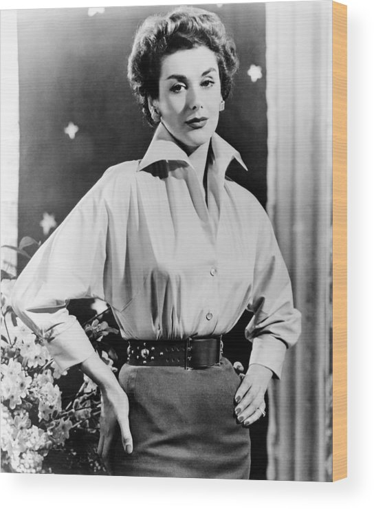 1950s Portraits Wood Print featuring the photograph The Square Ring, Kay Kendall, 1953 by Everett