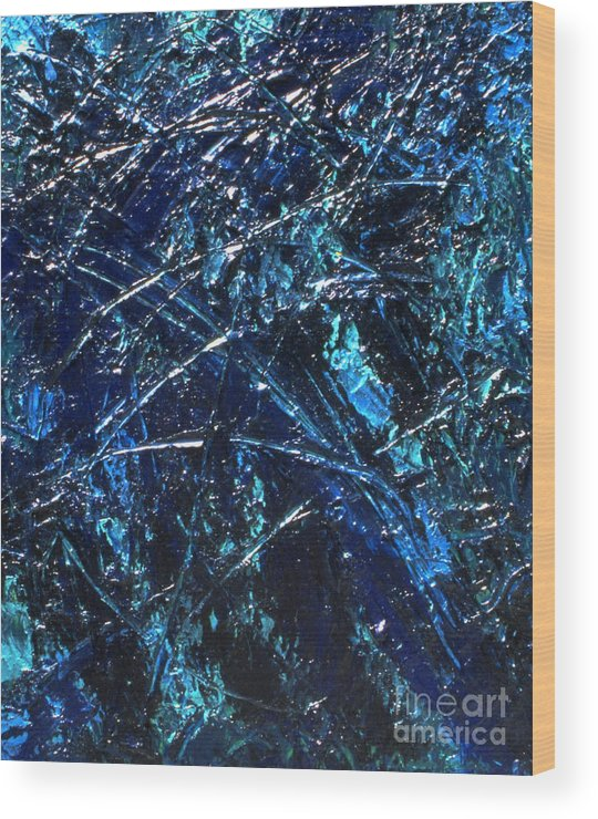 Abstract Wood Print featuring the painting Transitions I by Dean Triolo
