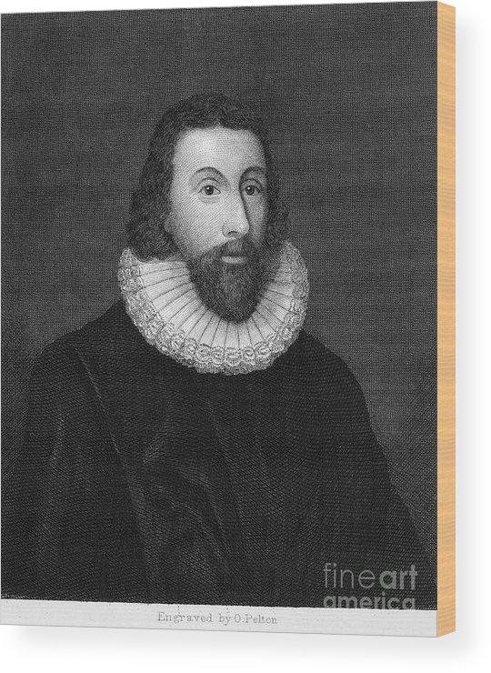 16th Century Wood Print featuring the photograph John Winthrop (1588-1649) by Granger