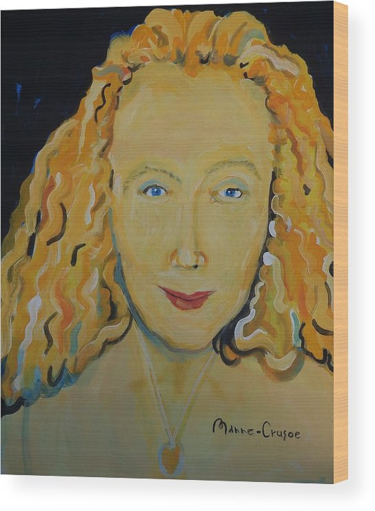 Connie Wood Print featuring the painting Connie Crothers by Jay Manne-Crusoe
