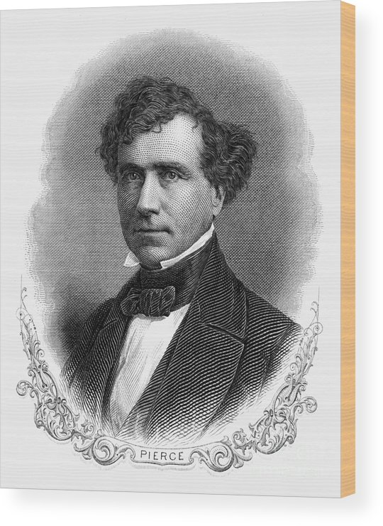 19th Century Wood Print featuring the photograph Franklin Pierce (1804-1869) by Granger