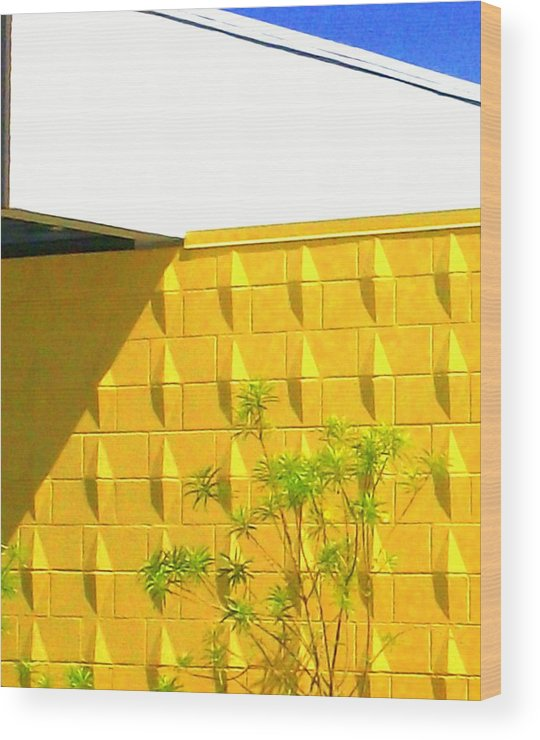 Modern Architecture Wood Print featuring the photograph Mod Squad 2 by Randall Weidner