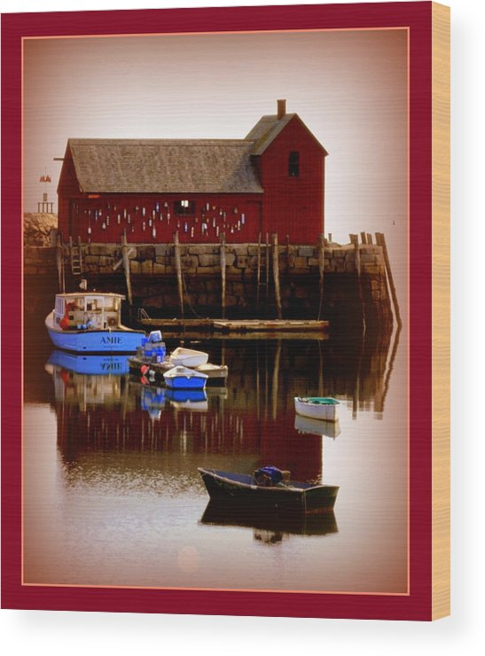 Rockport Wood Print featuring the photograph Motif #1 by Kathy Kenney
