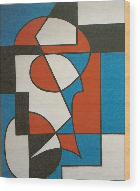 Abstract Wood Print featuring the painting Calypso by Nicholas Martori