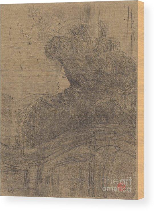 Wood Print featuring the drawing Cl?o De M?rode by Henri De Toulouse-lautrec