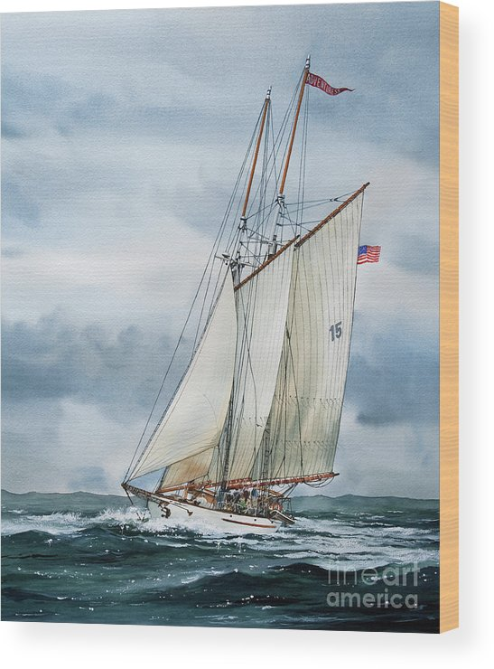 Sailing Vessel Adventuress Wood Print featuring the painting Adventuress by James Williamson
