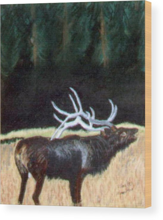 Antelope Wood Print featuring the painting Antelop by Stan Hamilton