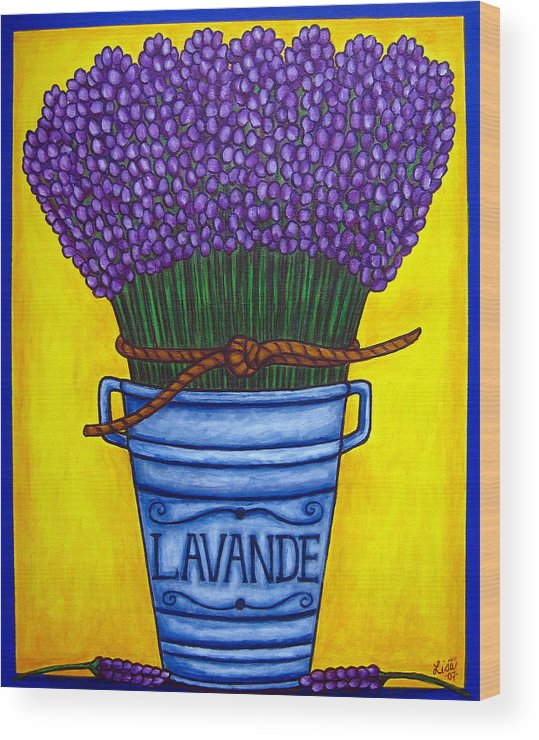 Antique Wood Print featuring the painting Colours Of Provence by Lisa Lorenz