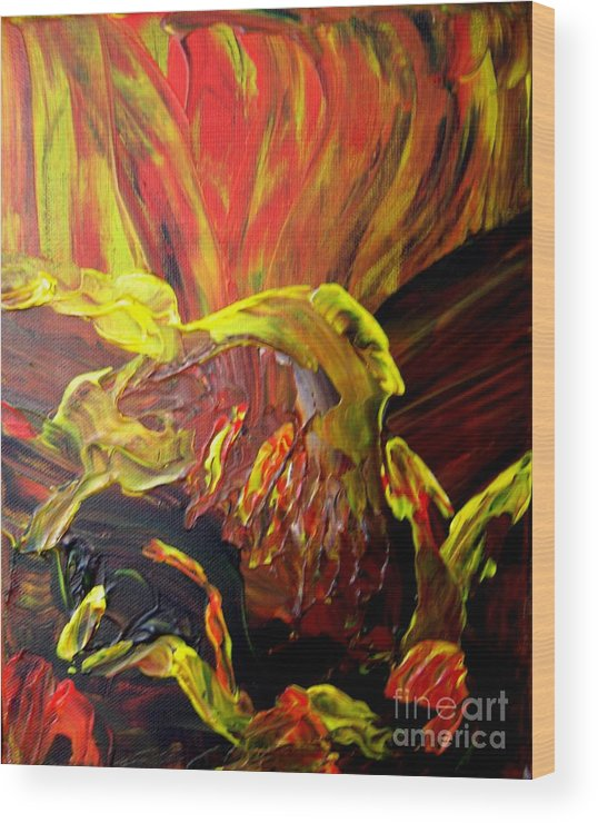 Bird Wood Print featuring the painting Come To Me by Karen L Christophersen
