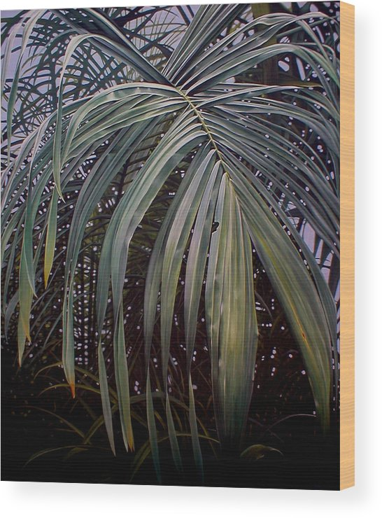 Plants Wood Print featuring the painting El Calor De La Selva by Laine Garrido