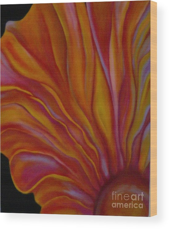 Floral Wood Print featuring the painting Internal Floral by Sidra Myers