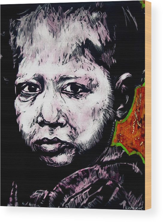 Wood Print featuring the mixed media Little Rosita by Chester Elmore