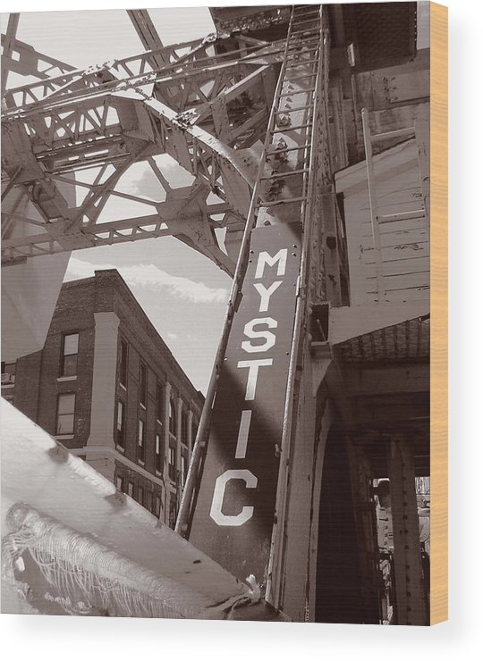 Mystic Wood Print featuring the photograph Mystic Drawbridge by Heather Weikel