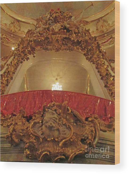 Munich Wood Print featuring the photograph Residenz Theatre 4 by Randall Weidner
