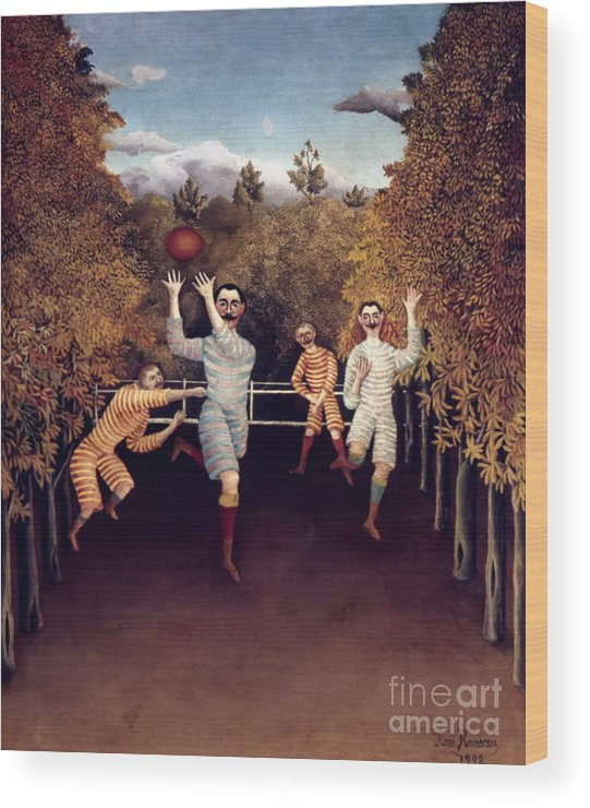 1908 Wood Print featuring the photograph Rousseau: Football, 1908 by Granger
