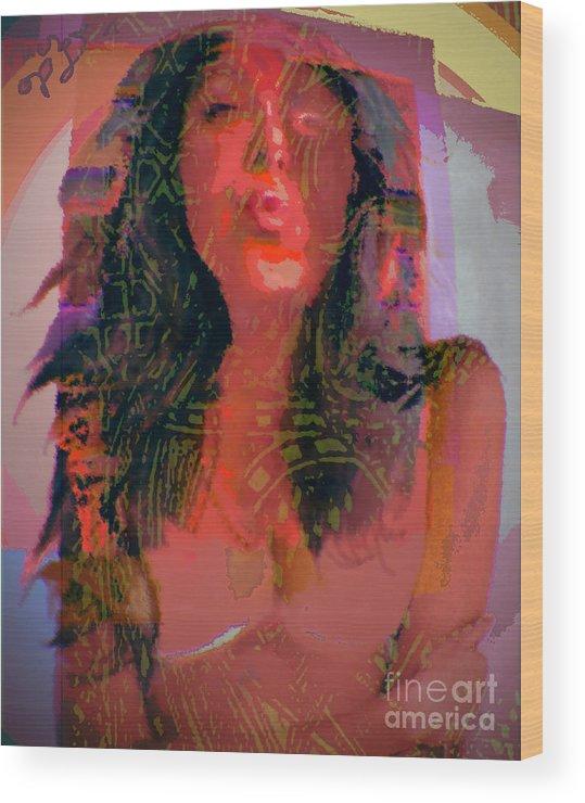 Portrait Wood Print featuring the digital art Salome by Noredin Morgan