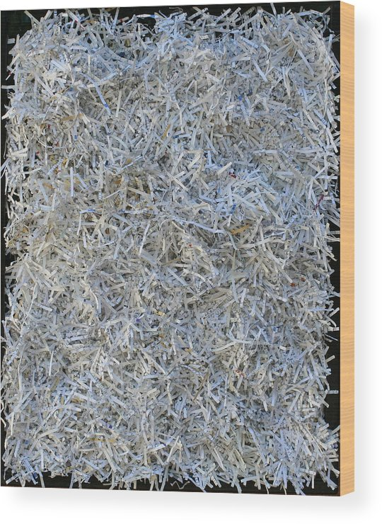 Wood Print featuring the mixed media Shredded by Biagio Civale