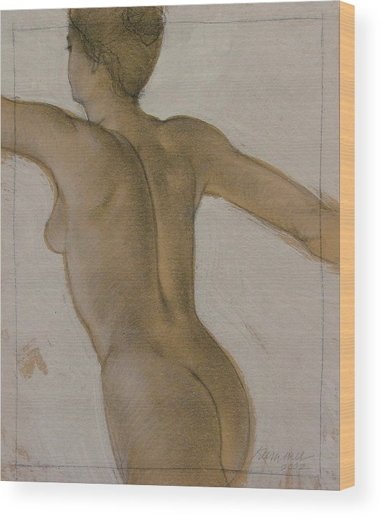 Female Figure Wood Print featuring the painting The Dancer by Gary Kaemmer