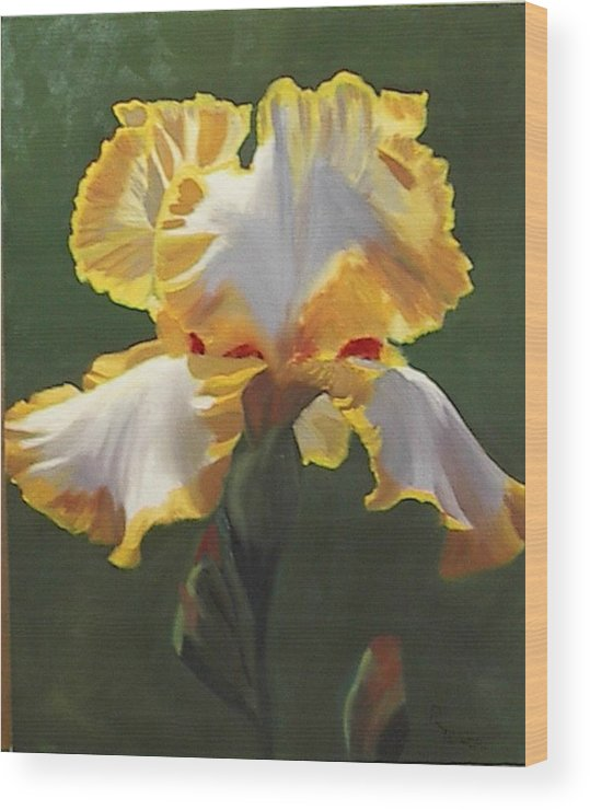 Floral Wood Print featuring the painting Trimmed In Yellow 1 by Robert Tower