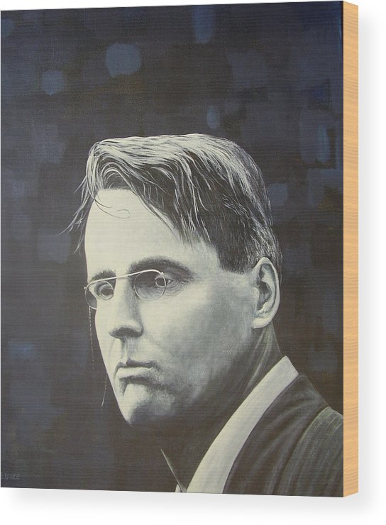 W.b. Yeats Wood Print featuring the painting W.b. Yeats by Eamon Doyle