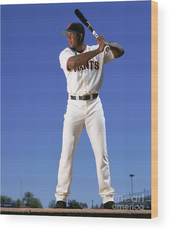 Arizona Wood Print featuring the photograph Barry Bonds by Andy Hayt