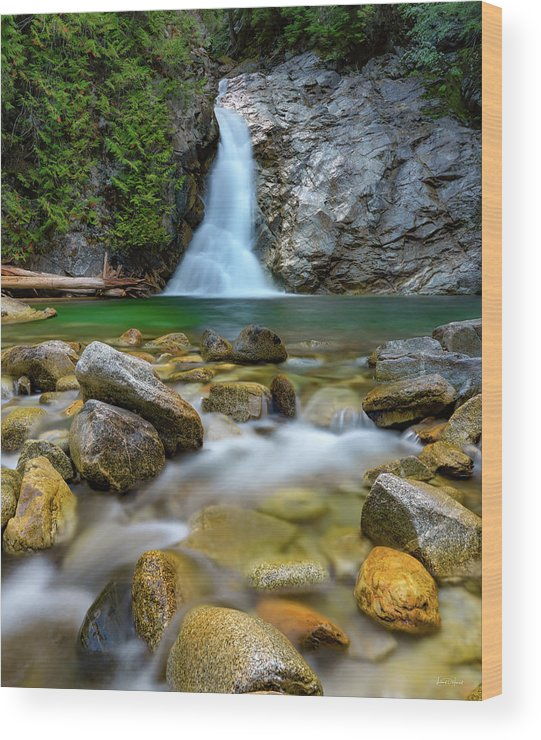 Nature Wood Print featuring the photograph Uper Priest Falls And Cascade by Leland D Howard