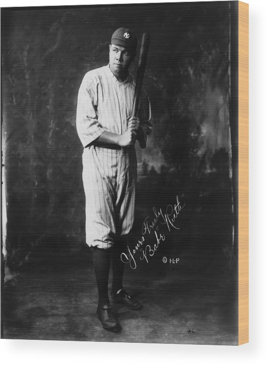 People Wood Print featuring the photograph Babe Ruth by Mpi
