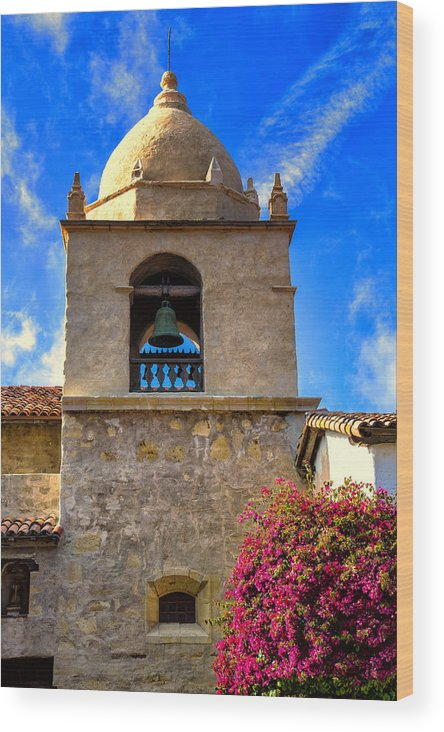 Carmel Mission Wood Print featuring the photograph Carmel Mission by Garry Gay