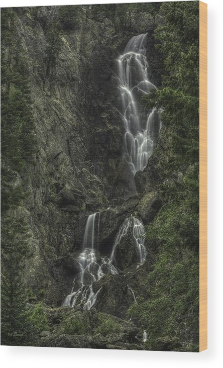 Waterfall Landscape Wood Print featuring the photograph Angel Falls by Bill Sherrell
