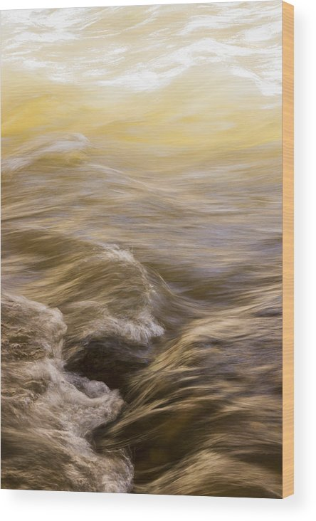 Winter Wood Print featuring the photograph Dance Of Water And Light by Deborah Hughes