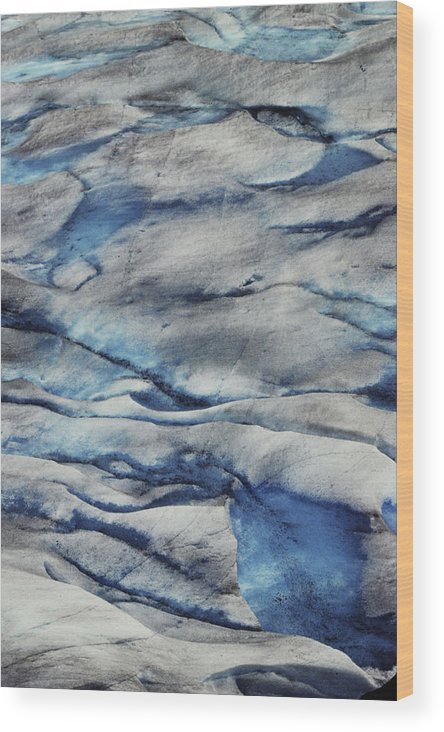 Home Decor Wood Print featuring the photograph Glacial Ice by Jeff Leland