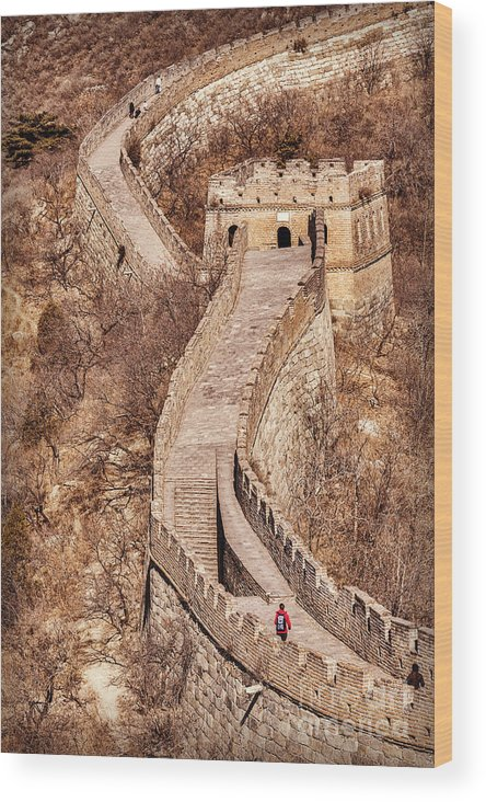 China Wood Print featuring the photograph Great Wall Of China Mutianyu by Colin and Linda McKie