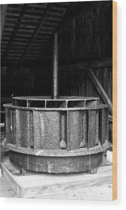 Mill Wheel Wood Print featuring the photograph Mill Wheel by Pablo Rosales