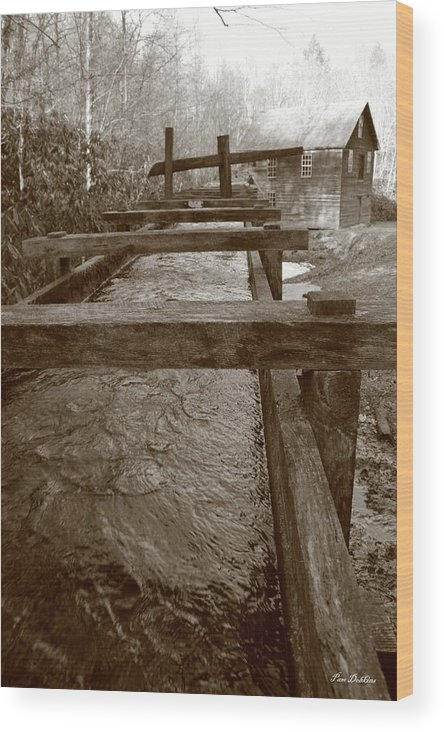 Wood Print featuring the photograph Mingus Mill 2 by Pam Dobkins