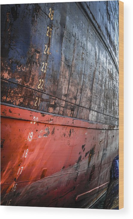 Plimsole Wood Print featuring the photograph Numbers by Chris Smith