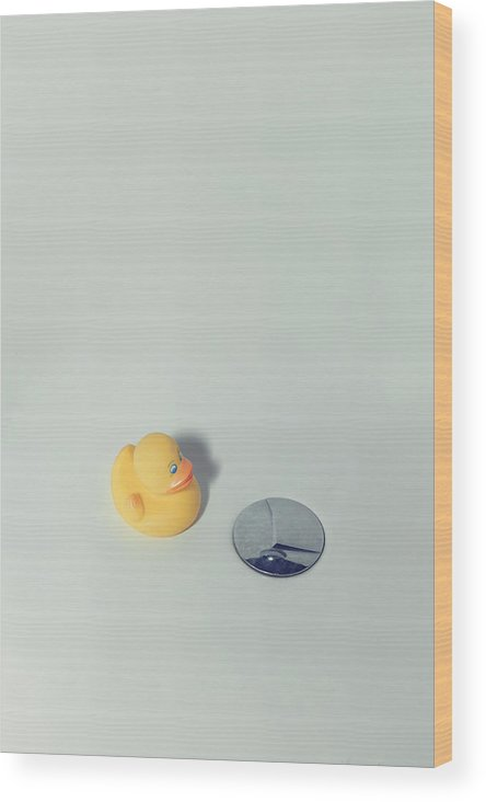 Duck Wood Print featuring the photograph Rubber Duck by Joana Kruse