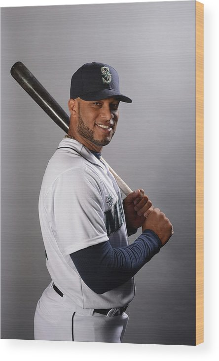 Media Day Wood Print featuring the photograph Seattle Mariners Photo Day by Norm Hall