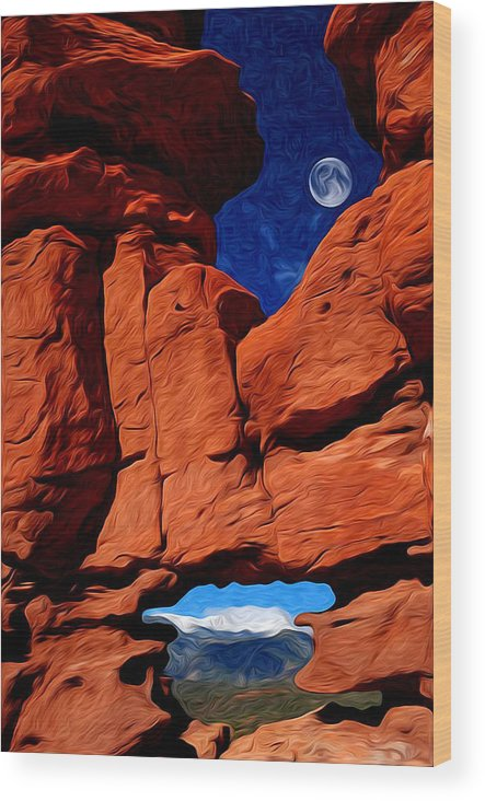Garden Of The Gods Wood Print featuring the photograph Siamese Twins Rock Formation At Garden Of The Gods by John Hoffman