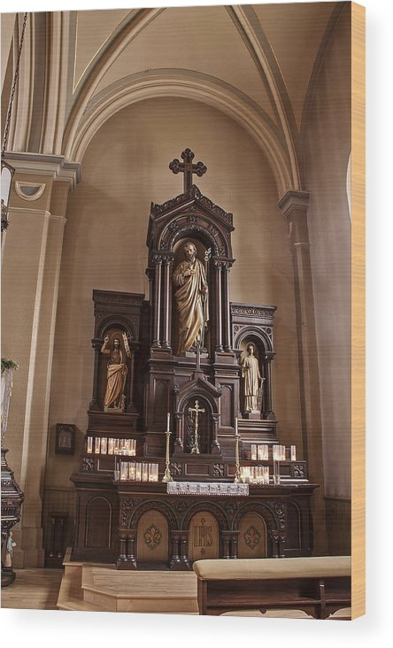 Altar Wood Print featuring the photograph St John The Baptist by T C Hoffman