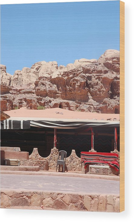 Wood Print featuring the photograph Wadi Rum by Virginie Vanos