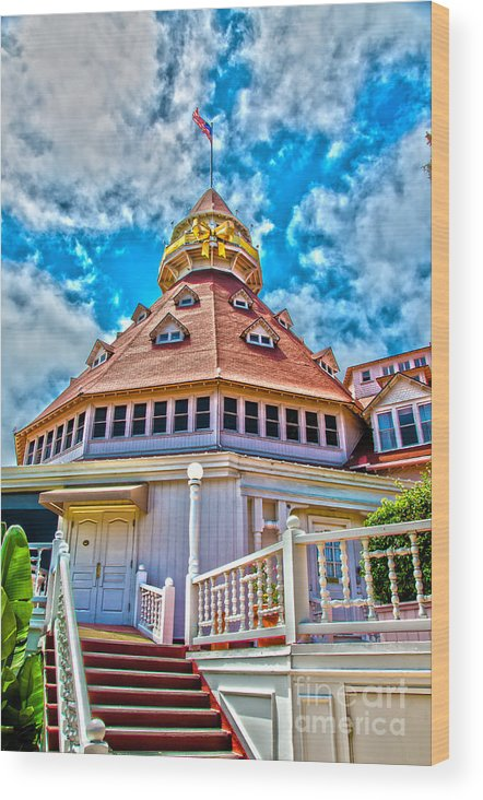 Hotel Del Coronado Wood Print featuring the photograph 125 Anniversary by Baywest Imaging