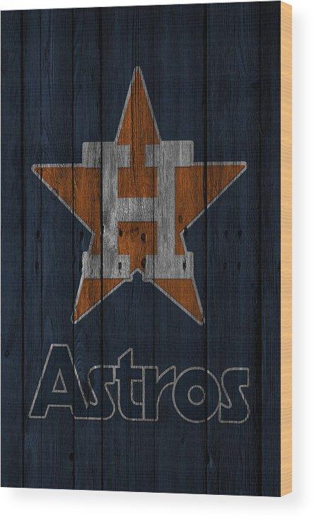 Astros Wood Print featuring the photograph Houston Astros by Joe Hamilton
