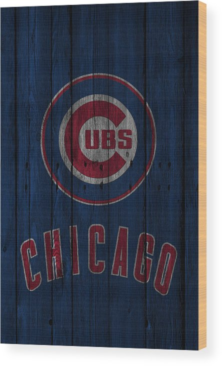Cubs Wood Print featuring the photograph Chicago Cubs by Joe Hamilton