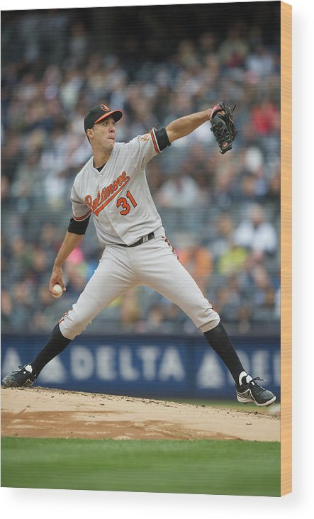East Wood Print featuring the photograph Baltimore Orioles V. New York Yankees 15 by Rob Tringali