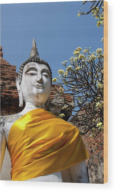 Asia Wood Print featuring the photograph Thailand, Ayutthaya by Cindy Miller Hopkins