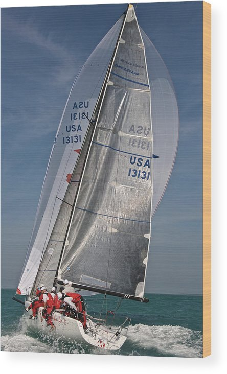 Skiff Wood Print featuring the photograph Key West Race Week by Steven Lapkin