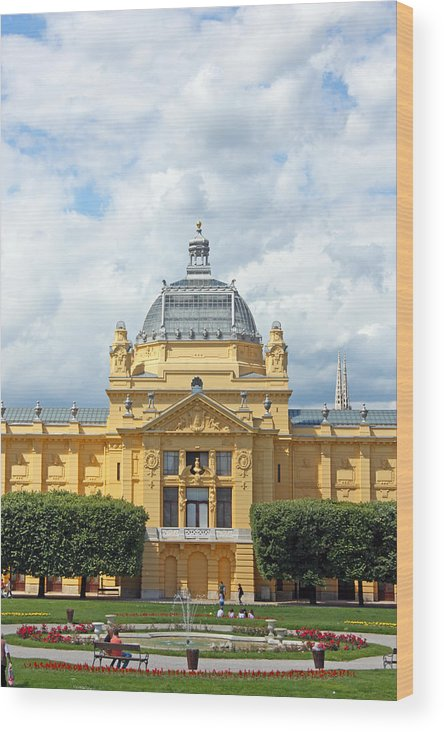 Croatia Wood Print featuring the photograph Art Pavilion Zagreb by Borislav Marinic