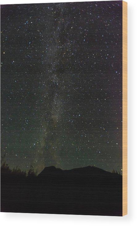 Photography Wood Print featuring the photograph Aurora Borealis, Kantishna, Alaska by Panoramic Images